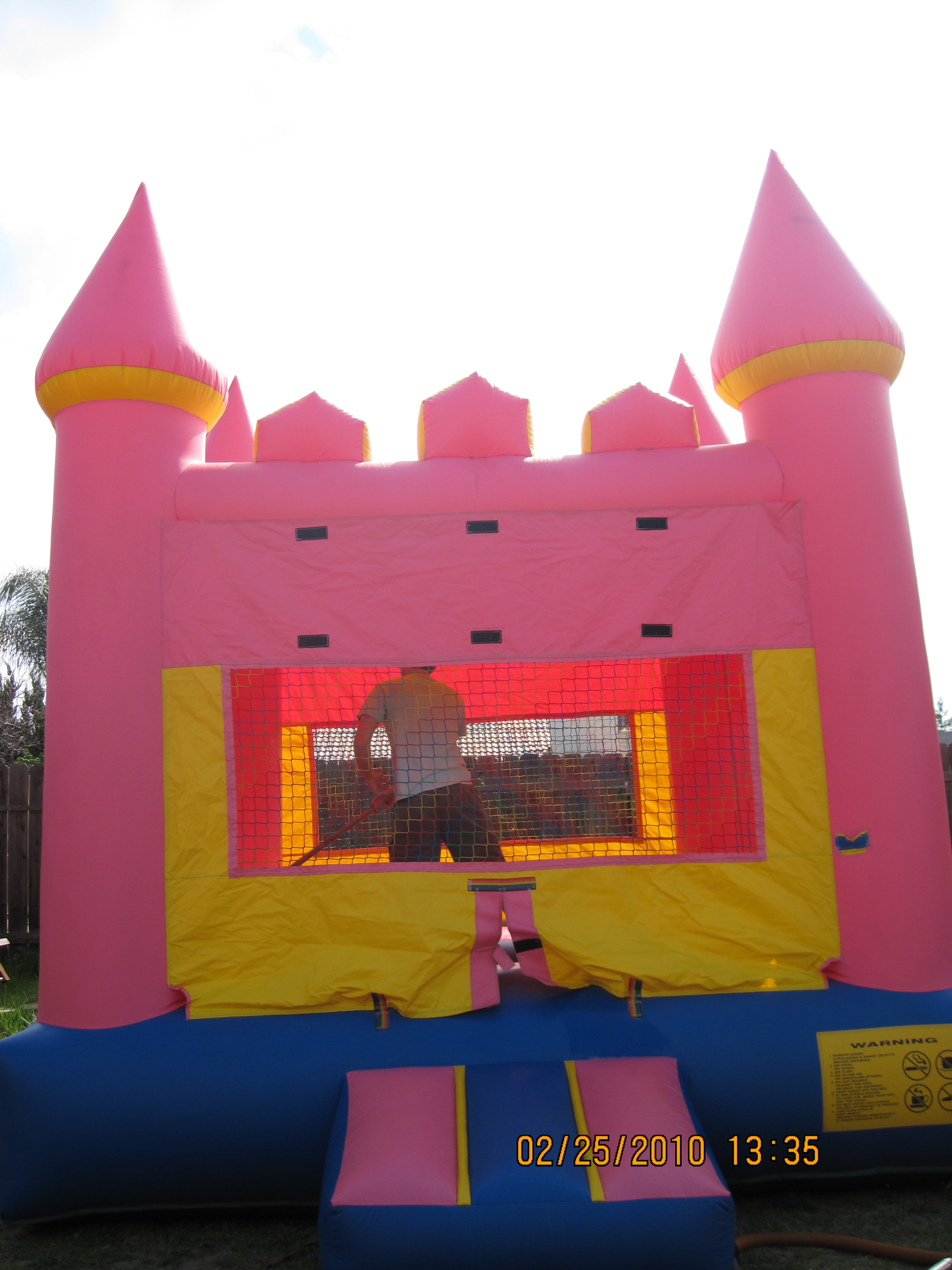 13 X 13 Pink Bounce House