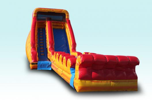 18 Foot Fire & Ice Water Slide with Slip & Slide